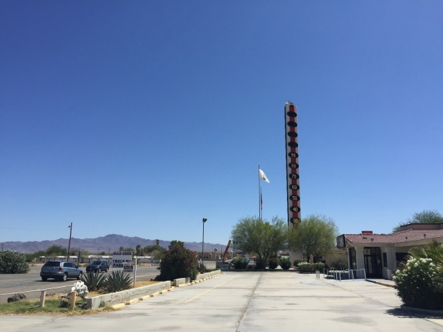 The giant thermometer in Baker (99F at 10:30AM